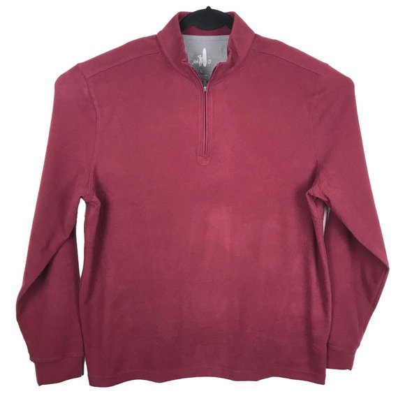 Johnnie-O 1/4 Zip Pullover Sweater Large